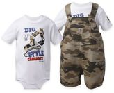 """Carhartt 2-Piece """"Dig My Style"""" Shortall and Bodysuit Set in Camo/White"""