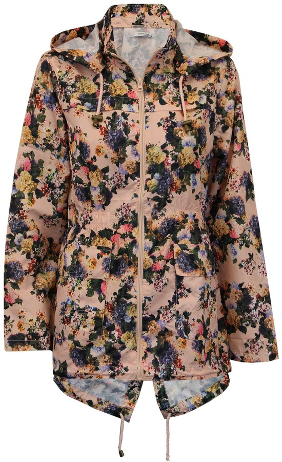 Thumbnail for your product : Brave Soul Womens Assorted Macs - Pink Floral - UK 14