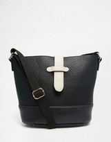 Pieces Cross Body Bag with White Fastening Detail