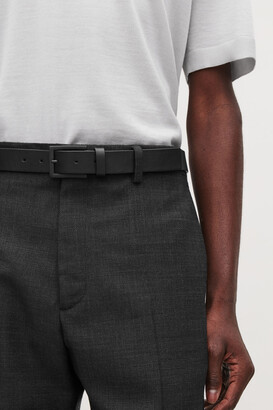 Cos Leather Belt With Matte Buckle