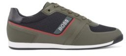 HUGO BOSS Low-profile trainers with mesh and thermo-bonded details