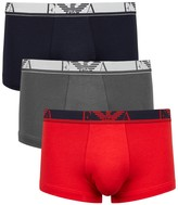 Emporio Armani Stretch Cotton Boxer Briefs - Set Of Three