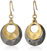 Kenneth Cole New York Two-Tone Layered Earrings