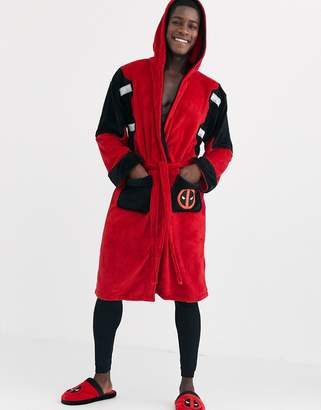 Pool' Robes Dead Pool Dressing Gown-Red