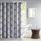 Madison Park Montclair Texture Printed Shower Curtain - Charcoal