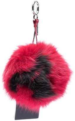 Fendi ABCharm Red Faux fur Bag charms