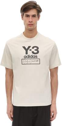 Y-3 Y 3 Stacked Logo Cotton Jersey T-shirt
