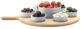 LSA International Porcelain Paddle Tapas Set (8 PC)