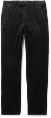 Ermenegildo Zegna Black Stretch Cotton And Cashmere-Blend Corduroy Trousers