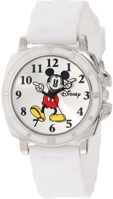 "Disney Kids' MK1103 ""Mickey Mouse"" Watch With White Rubber Band"