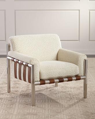 Massoud Waylon Chenille Lounge Chair