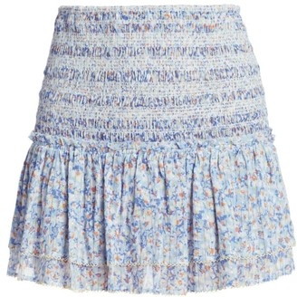 Poupette St Barth Triny Smocked Mini Skirt