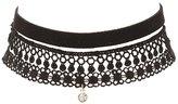 Charlotte Russe Plus Size Faux Suede & Crochet Choker Necklaces - 3 Pack