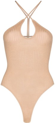 Dodo Bar Or Cut-Out Ribbed Bodysuit
