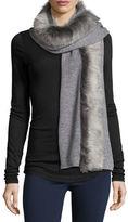 UGG Luxe Wool-Blend Scarf w/ Toscana Fur Trim