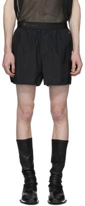 Rick Owens Black Champion Edition Nylon Dolphin Boxer Shorts