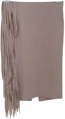 Brunello Cucinelli Grey Silk Skirt for Women