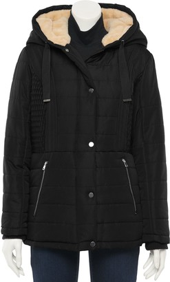 Details Women's Sherpa-Lined Convertible Collar Coat