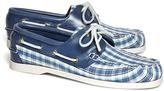 Brooks Brothers Seersucker Plaid Boat Shoes