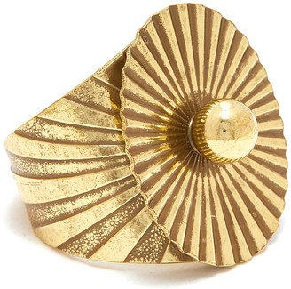 Anton Heunis 'Lily pad' antique style ring