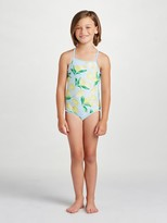 Oscar de la Renta Painted Lemons Classic Swimsuit