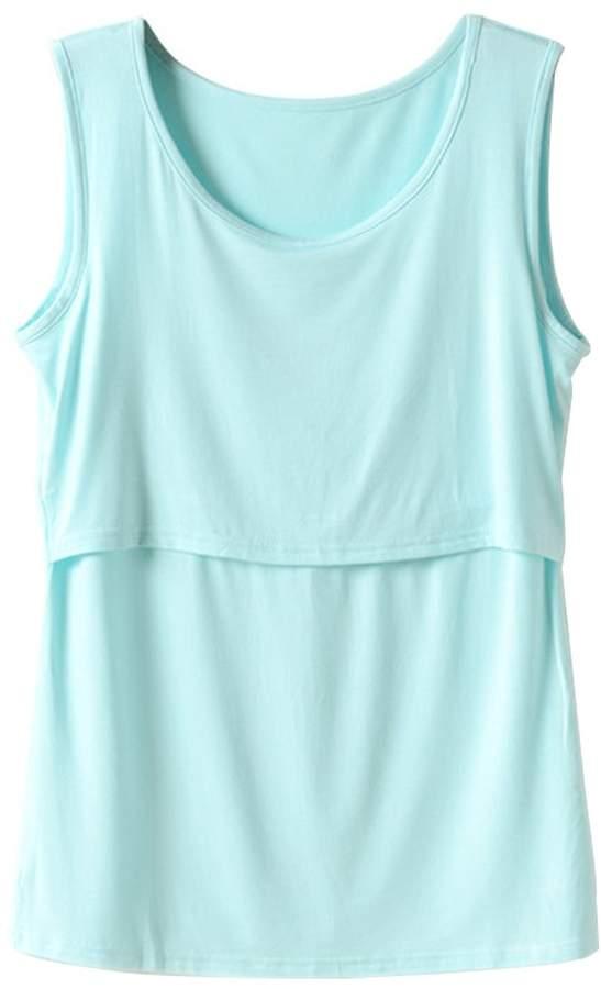 Zerlar Women's Breastfeeding Maternity Nursing Tank Top Tee Vest (L, )