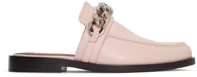 Givenchy Pink Single Chain Slippers