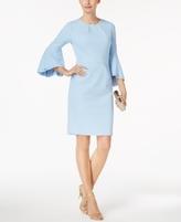 Betsy & Adam Petite Bell-Sleeve Sheath Dress