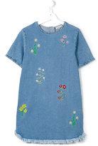 Stella McCartney embroidered flower denim dress