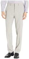 Kenneth Cole Reaction Stretch Flannel Slim Fit Flat Front Dress Pants (Heather Grey) Men's Dress Pants