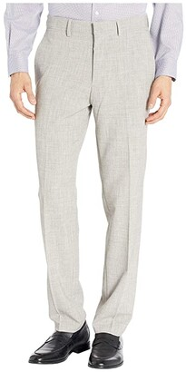 Kenneth Cole Reaction Stretch Flannel Slim Fit Flat Front Dress Pants (Heather Grey) Men's Dress Pants