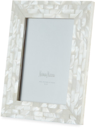 """Mother of Pearl The Jws Collections Mother-of-Pearl Picture Frame, White, 5"""" x 7"""""""