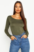 Boohoo Nancy Round Neck Long Sleeve Top
