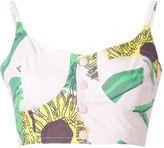 Julien David sunflower print bustier - women - Cotton - S
