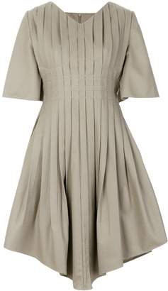 Vejas pleated v-neck dress