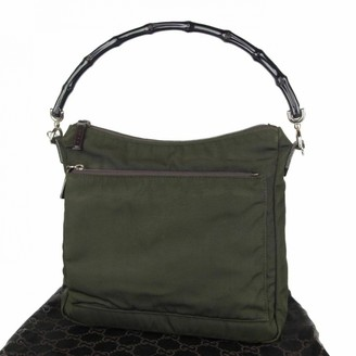 Gucci Bamboo Green Leather Handbags