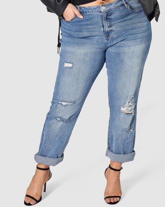 Sunday In The City Psycho Ripped Boyfriend Jeans