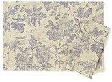 Noble Excellence Woodland Floral Leaf-Print Linen & Cotton Table Linens