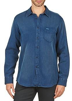 Façonnable PERMALA men's Long sleeved Shirt in Blue