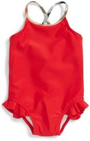 Burberry Infant Girl's 'Lundy' One-Piece Swimsuit