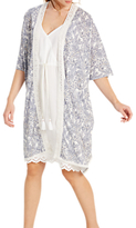 White Stuff Amelie Fern Print Robe, Sea Shell