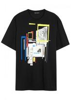 Versace Black Printed Cotton T-shirt