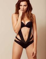 Agent Provocateur Lyssandra Swimsuit Crystal Black