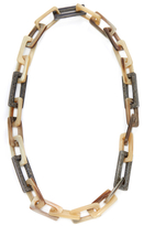Maiyet Silver, 16.85 Total Ct. Diamond & Horn Link Necklace