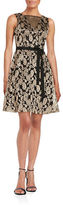 Jessica Simpson Floral Lace A-Line Dress