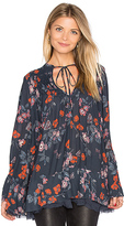 Free People Pebble Crepe So Fine Smocked Tunic Top