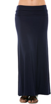 Magic Fit Navy Fold-Over Maxi Skirt