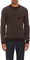 Zanone MEN'S TEXTURED-KNIT SWEATER-RED SIZE M