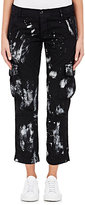 NSF Women's Paint-Splattered Cotton Canvas Cargo Pants