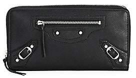 Balenciaga Women's Arena Zip-Around Leather Wallet